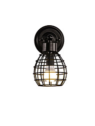 hot sale Retro Pipe Wall Lights Simple Loft Black Birdcage Metal Dining Room Kitchen Bar Cafe Decoration lighting