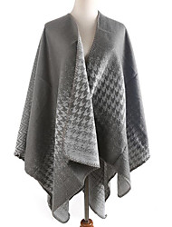 Women Faux Fur Scarf,Casual RectanglePrint