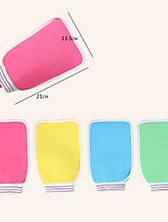 2 in 1 Shower Scrubber Back Scrub Exfoliating Body Massage Sponge Bath Gloves (Random Color)