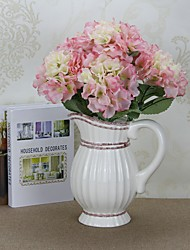 Polyester Hydrangeas Tabletop Flower Artificial Flowers height 47cm