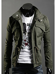 Men'S Stand Collar Slim Long Sleeve Outwear