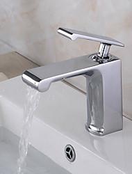torneira pia do banheiro em estilo moderno alça única cachoeira torneira pia do banheiro