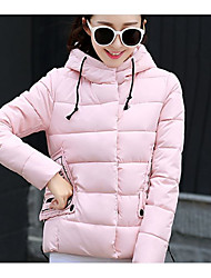 Sign Winter new Korean version of casual women's short jacket padded hooded cotton jacket women