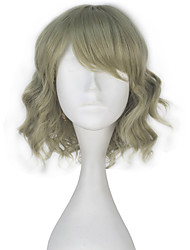 Final Fantasy Women Girl Synthetic Short Curly Light Green Color Game Cosplay Party Full Wig