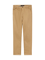 Hombre Pantalones Chinos-SimpleAlgodón