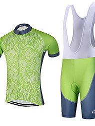 Forcast QKI Pro Cycling Jersey with Bib Shorts Men's Short Sleeve BikeBreathable / Quick Dry/Anatomic Design/reflective stripe/5D coolmax gel pad