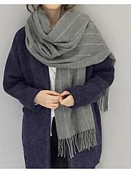 Damen Freizeit Acryl Schal,Infinity-Schal Gestreift Herbst / Winter