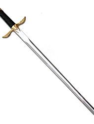 Schwert Inspiriert von Meuchelmörder Altar Ibn-La'Ahad Anime Cosplay Accessoires Schwert Silber PU Leder