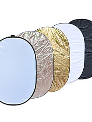 90 x 120cm 5 in 1 Portable Collapsible Light Photography Reflector for Studio Multi Photo Disc