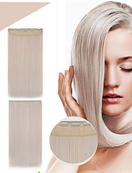 sintético extensões de cabelo 24inch 120g # 613 longas retas 5clips grampo de cabelo da moda 1 peça das mulheres na reta