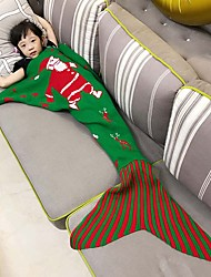 Bedding Sofa Mermaid Blanket Knitting Fish Christmas Little Tail Blankets Warm Sleeping Child Santa Claus