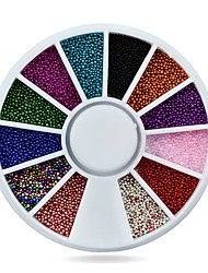 1pcs 3d Nail Caviar Beads DIY Nail Sticker Decoration Wheel Charm Nail Supplies