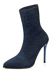 Women's Boots Winter Other Fabric Office & Career Dress Casual Stiletto Heel Royal Blue Other