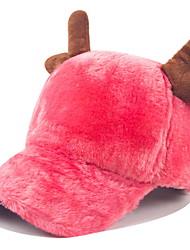 Warm Plush Cute Antlers Baseball Cap Women 'S Street Dancing Hip - Hop Hats