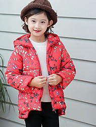 Girl Casual/Daily / Sports Solid / Polka Dot Down & Cotton Padded,Cotton Winter Long Sleeve