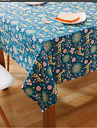 Square Patterned / Animal / Floral Table Cloth , Linen Material Hotel Dining Table / Table Decoration