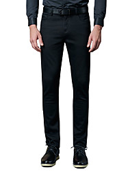 Men's Plus Size Straight / Slim Chinos / Business Pants,Going out / Casual/Daily / Work Vintage / Simple / Street chic Solid Low Rise