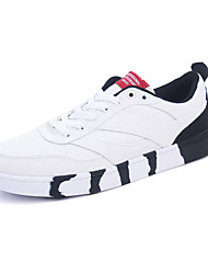 Men's Sneakers Spring Fall Comfort PU Casual Flat Heel Lace-up Black Blue White Black and Red