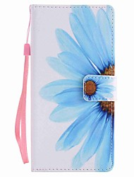 For  Xperia XA Ultra X Performance Z5 Case Cover Sunflower Painted Lanyard PU Phone Case