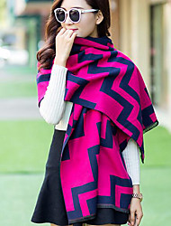 Women Acrylic Scarf,Casual RectangleGeometric