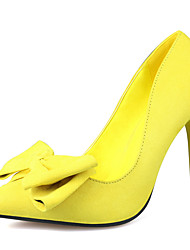 Women's Shoes Slip-on Bowknot Heels/Pumps Pointed Toe Stiletto Heels Party/Dress Shoes