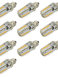7W E12 Lâmpadas Espiga Tubo 152 SMD 3014 580 lm Branco Quente / Branco Frio Decorativa V 10 pçs
