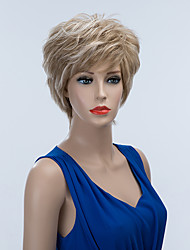 Latest Trend Well-designed Short Layered Capless Wigs Natural Wavy Human Omber Hair