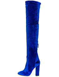 Women's Boots Spring / Fall / Winter Others Velvet Dress / Casual Chunky Heel Black / Royal Blue / Burgundy Others