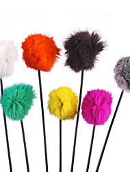 Pet Toys Teaser Bell Red / Black / White / Green / Yellow / Orange / Khaki Plastic