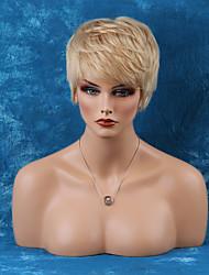 graciosa curta capless perucas de cabelo humano em linha reta naturais