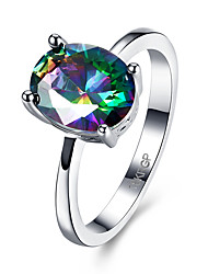 Women's Rings Statement Rings Jewelry Hallowas/Party/Daily/Wedding Fashion Cubic Zirconia Copper Multicolor 1pc Gift