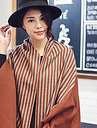 Women's Acrylic Rectangle,Casual Striped Fall Winter