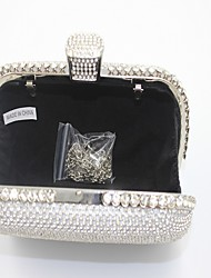 Women-Formal / Event/Party-leatherette-Evening Bag-Gold / Silver / Black