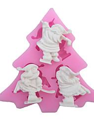 Santa Slaus Type Candy Fondant Cake Molds  For The Kitchen Baking Molds