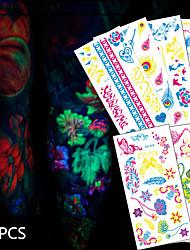24 Tatouages Autocollants Séries animales / Séries de fleur / Séries de totem / Autres / Cartoon Series / Série romantiqueNon Toxic /