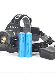 Eclairage Lampes Frontales / Eclairage de Vélo / bicyclette / Eclairage sécurité vélo / Ecarteur de danger LED 5000 Lumens 1 ModeCree