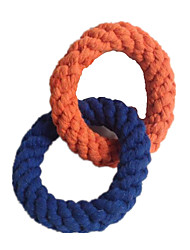Cat / Dog Pet Toys Chew Toy / Teeth Cleaning Toy Rope / Woven Blue / Orange Textile