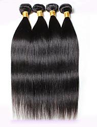 4 Pièces Droit (Straight) Tissages de cheveux humains Cheveux Péruviens 8-30inch Extensions de cheveux humains