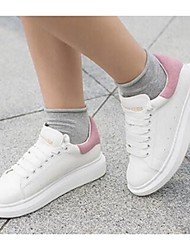 Women's Sneakers Comfort PU Casual Black Pink