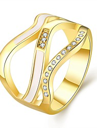 Fashion Gold Rings for Women New Design 18K Rose Gold Plated Wedding Ring Bague Femme Infinity Bijoux Jewelry R760