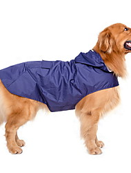 Dog Rain Coat Red / Dark Blue Dog Clothes Summer / Spring/Fall Solid Waterproof / Windproof