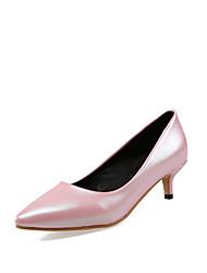 Damen-High Heels-Büro / Kleid / Lässig / Party & Festivität-Kunstleder-Kitten Heel-Absatz-Komfort-Grün / Rosa / Silber