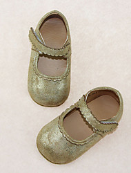 Girl's Flats Spring Summer Fall Other Comfort PU Casual Flat Heel Magic Tape Silver Gold