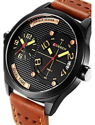 Мужской Спортивные часы / Армейские часы / Нарядные часы / Модные часы / Наручные часы Японский кварцКалендарь / С двумя часовыми поясами