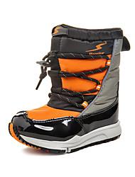 Stiefel-wadenlang(Schwarz / Orange) - für Jungen / Mädchen-Schnee Sport