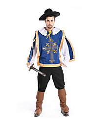 Festival/Holiday Halloween Costumes Blue & Black Solid Top / Pants / Hats / More Accessories Halloween / Christmas / Carnival Male