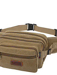 20 L Belt Pouch/Belt Bag Camping & Hiking Outdoor Breathable Black / Others / Army Green Canvas