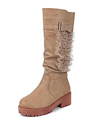 Women's Boots Others Leatherette Outdoor Brown / Khaki