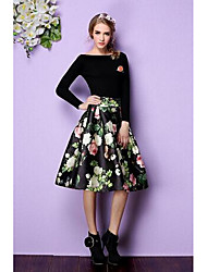 Women's Bodycon Solid Skirts,Casual/Daily Low Rise Above Knee Zipper Cotton Micro-elastic Fall