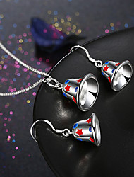 Jewelry 1 Necklace 1 Pair of Earrings Non Stone Daily Casual 1set Women Silver Wedding Gifts
